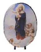 Notre Dame des Anges Oval Slate Tile