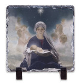 Star of Bethlehem Square Slate Tile