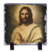 Figure of Christ Square Slate Tile