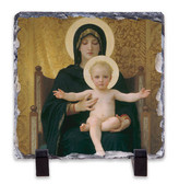 Virgin and Child Square Slate Tile