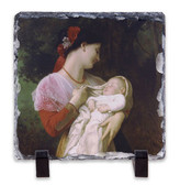 Maternal Admiration Square Slate Tile