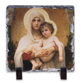 Madonna of the Roses Square Slate Tile