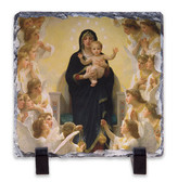 Queen of the Angels Square Slate Tile