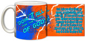 """Doing It All"" Graphic Mug Orange"