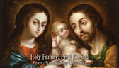 Front Holy Family Prayer Card