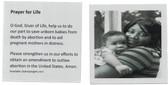 Prayer For Life Prayer Card