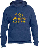 """Wonderful Adventure"" Pope Saint John Paul II Heather Navy Hoodie"