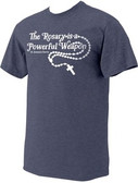 """The Rosary"" St. Josemaria Escriva Heather Navy T-Shirt"