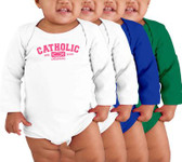 Catholic Original Long-Sleeve Baby Onesie