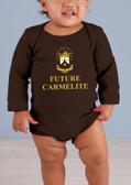 Future Carmelite Long-Sleeve Baby Onesie