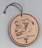 Christmas Blessings Wooden Ornament