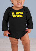 A New Hope Long-Sleeve Black Baby Onesie II