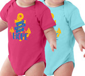 Face of Hope (Large Anchor) Baby Onesie