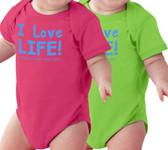 I Love Life! Baby Onesie