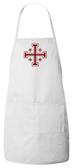 Cross of Jerusalem (Crusader) Apron (White)