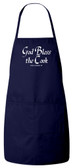 God Bless the Cook (She Needs It) Apron (Navy)