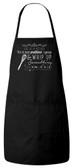 Life is a Kitchen Apron (Black)