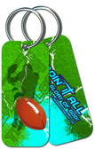 """Doing It All"" Football Keychain"