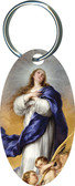 Immaculate Conception Oval Keychain