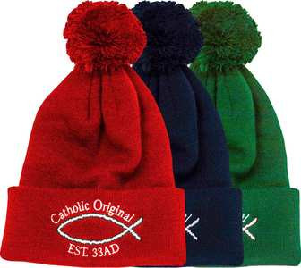 Catholic Original Pom-Pom Beanie