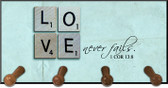 Love Never Fails Keychain Holder