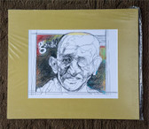 Matted Gandhi Sketch by Joseph Matose
