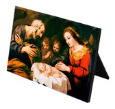Nativity Scene Horizontal Desk Plaque