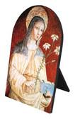 St. Clare Arched Desk Plaque