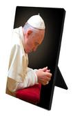 Pope Francis in Prayer Desk Plaque