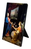 Annunciation by Barocci Vertical Desk Plaque
