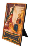 Annunciation Ave Gratia Plena Vertical Desk Plaque