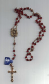 Red Crystal Madonna Rosary