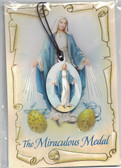 The Miraculous Medal Wood Pendant