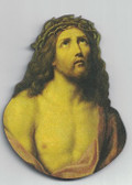 Head Of Christ Wood Magnet