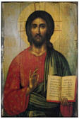 Christ the Teacher Rustic Wood Icon Plaque
