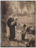 Gift of the Shepherd Rustic Wood Plaque