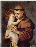 St. Anthony with Jesus Rustic Wood Plaque