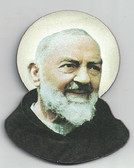 Padre Pio Wood Magnet