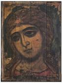Archangel Gabriel Rustic Wood Russian Icon