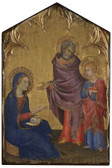 Finding of Jesus in the Temple Rustic Wood Icon Plaque