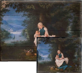 Rest on the Flight into Egypt by Jan Brueghel Rustic Wood Plaque