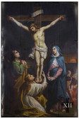 Bertucci Stations of the Cross Rustic Wood Plaque (Set of 14)