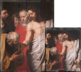 Christ Giving the Keys to St. Peter by Peter Paul Rubens Rustic Wood Plaque