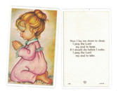 Lay Me Down To Sleep (Girl) Laminated Prayer Card