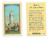 Prayer To Our Lady Of Fatima Laminated Prayer Card
