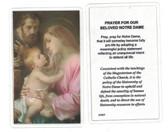 Prayer For Our Beloved Notre Dame Laminated Prayer Card