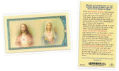 Prayer Of Consecration To The Sacred Heart Laminated Prayer Card