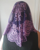 Wine Purple Eva Spanish Veil
