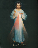 Inexpensive Divine Mercy 8 inch by 10 inch image (Black)
