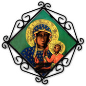 Our Lady of Czestochowa Votive Candle Holder